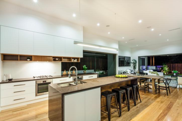 101 modern custom luxury kitchen designs photo gallery for Large modern kitchen