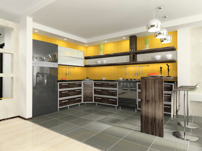 101 modern custom luxury kitchen designs photo gallery for Modern yellow kitchen design