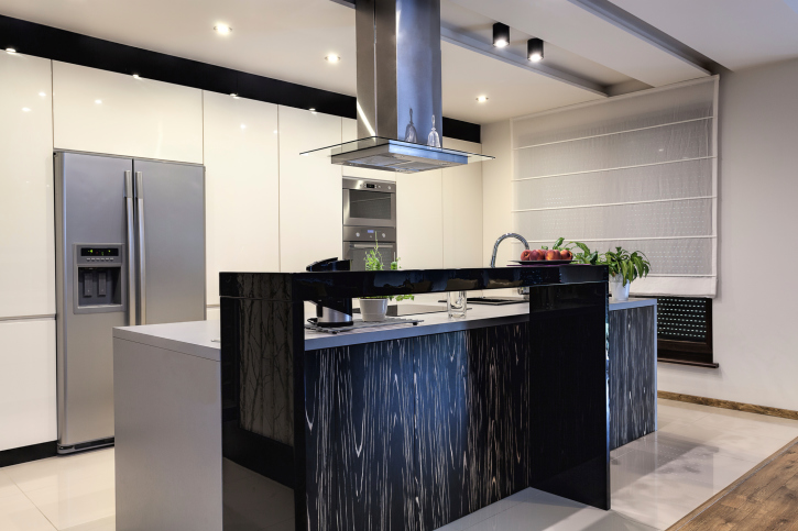 Modern White And Black Kitchen 101 modern custom luxury kitchen designs (photo gallery) | housemodo