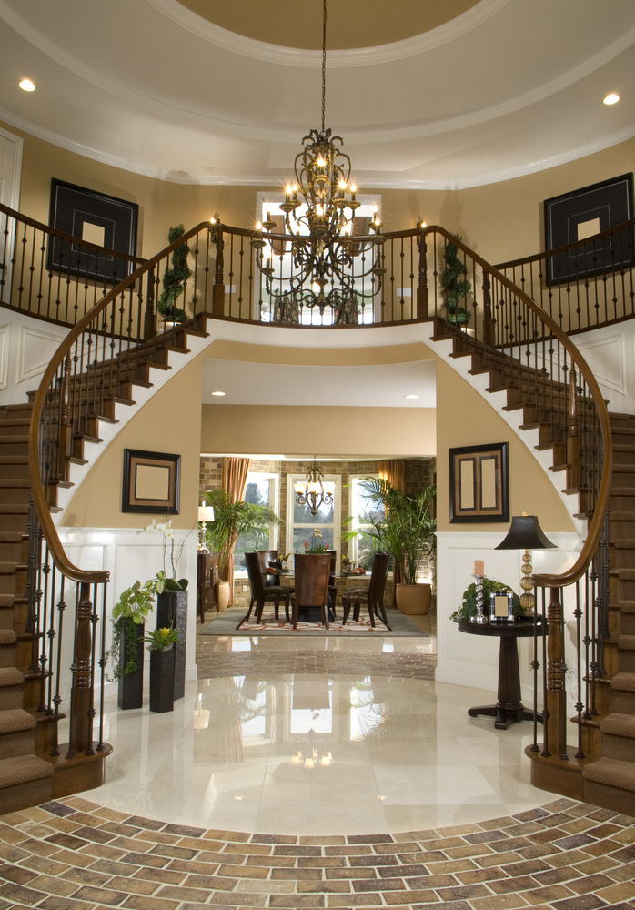 45 custom luxury foyer interior designs grand entrance for Dining room entrance