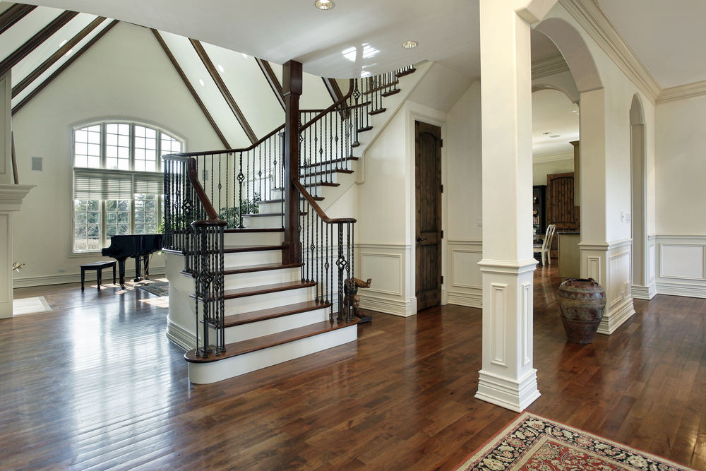 45 custom luxury foyer interior designs grand entrance - Small space staircase ideas concept ...