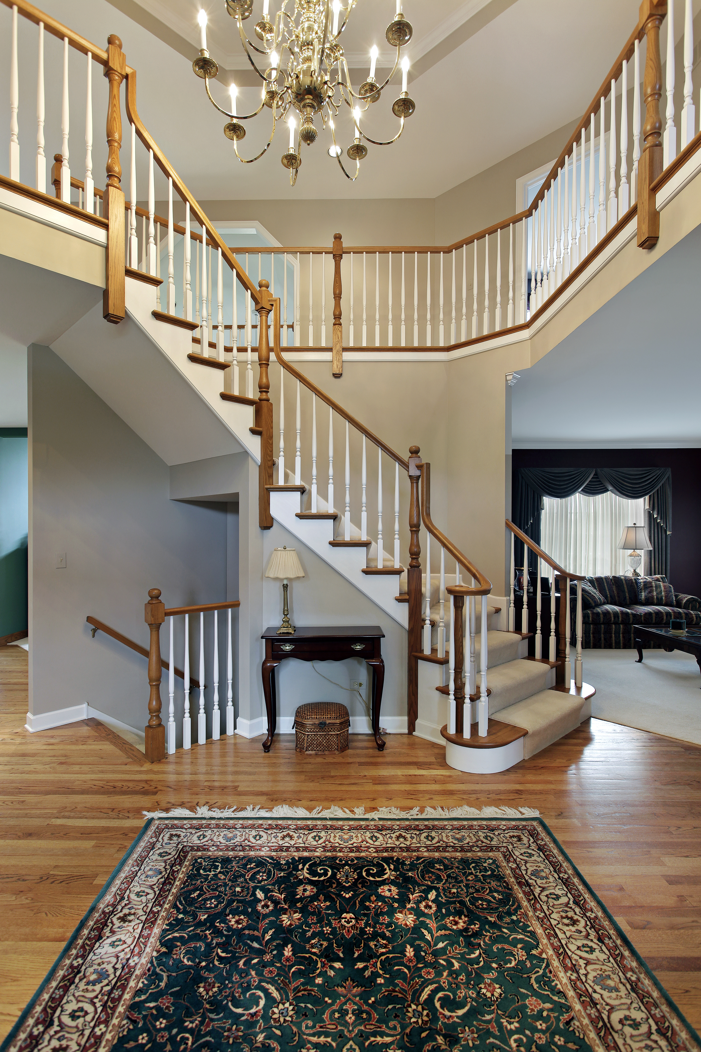 Open To Above Foyer : Custom luxury foyer interior designs grand entrance