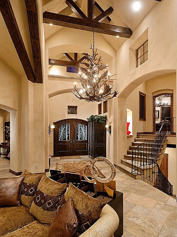 45 custom luxury foyer interior designs grand entrance for Mansion foyer designs